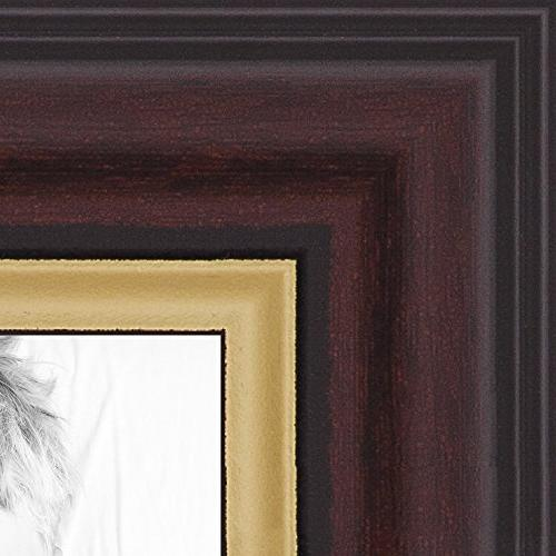 mahogany gold slope frame picture
