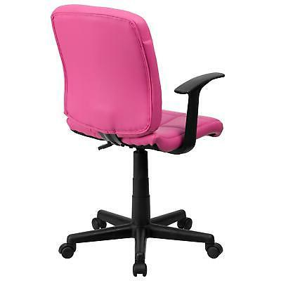 Flash Furniture Pink Quilted Swivel Task Office Arms
