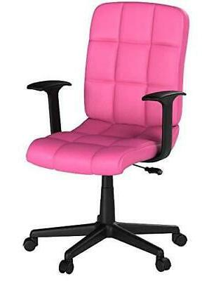 Flash Quilted Swivel Office Chair with Arms