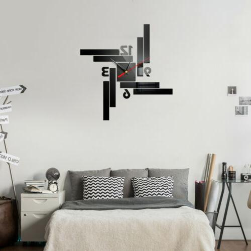 Modern 3D Mirror Sticker Removable Home Office US