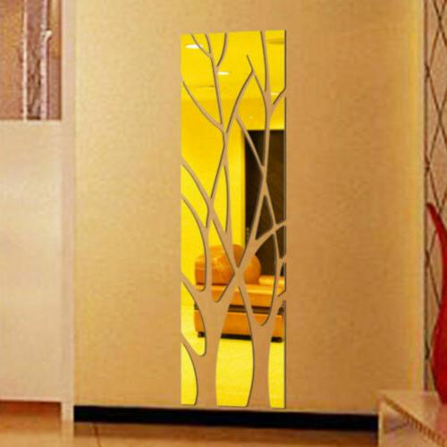 Modern Mirror Decal Tree Mural Wall Decor