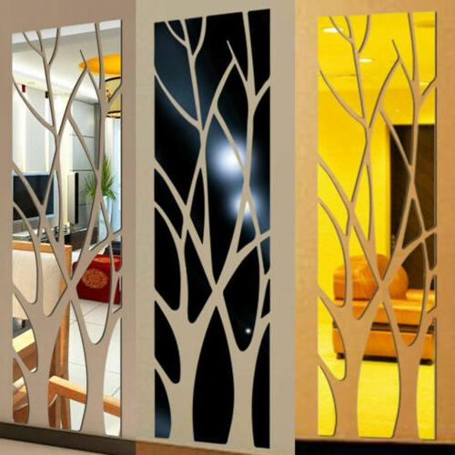 Modern Mirror Removable Decal Art Wall Office