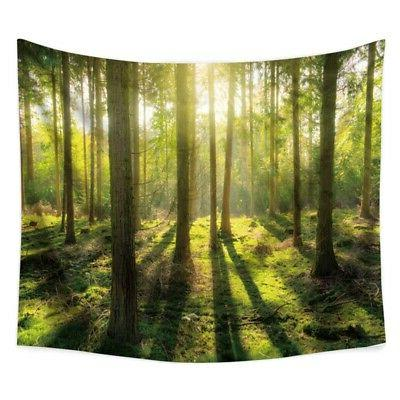 Nature Forest Tapestry Hanging Office Home US