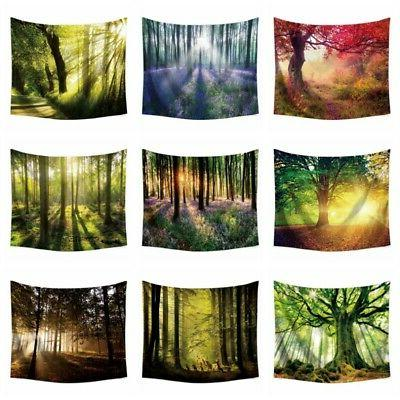 nature forest tapestry wall hanging scenery 3d