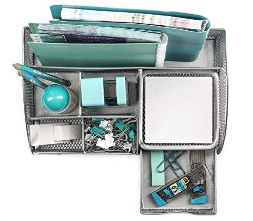 Mindspace Office Desk with Compartments Drawer Pencil Holder |