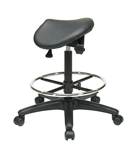 Office Office Stool and Black, 25 35-Inch Height