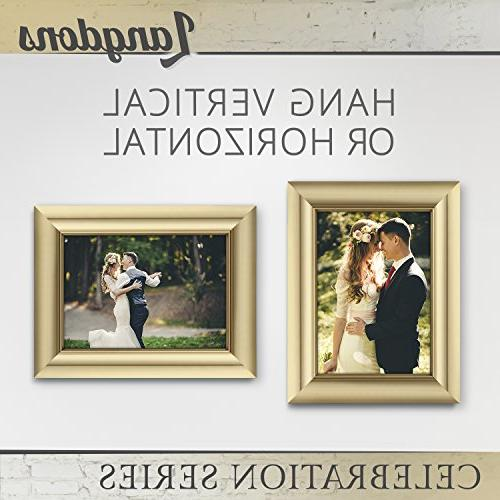 Langdons Picture Set Photo Frames Wall Hang Top Display, 7 Picture Gold Celebration Series