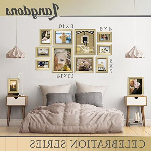 Langdons Set Frames Wall Hang or Top x 7 Picture Gold