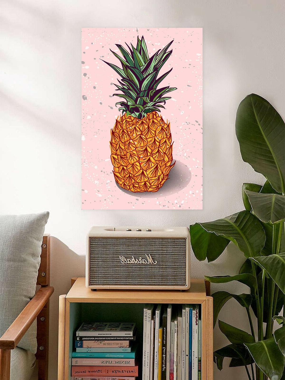 Pineapple Poster Minimalist Home Pink Prints