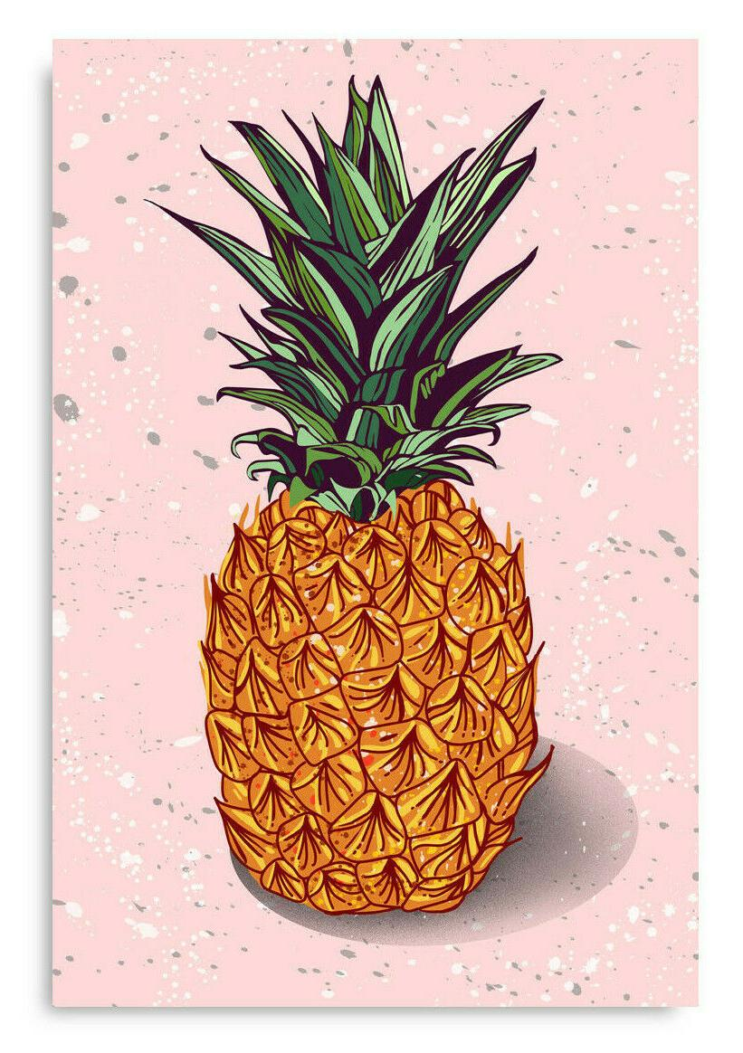 pineapple poster wall art minimalist home office
