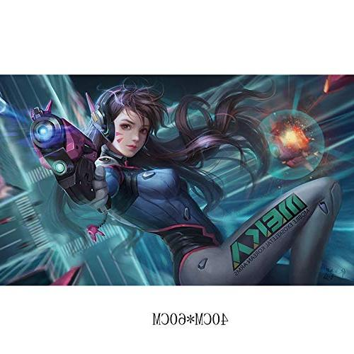 Fangeplus(R Overwatch Mecha Girl DVA Poster Coffee Decals