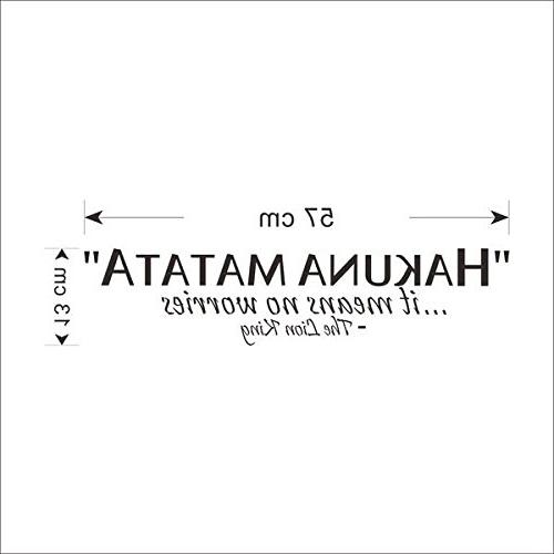 Amaonm Vinyl Saying Matata…Its No Worries, King Wall Kids for Children Rooms