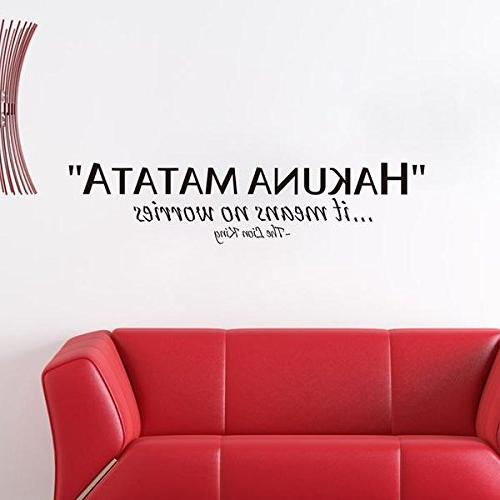 Amaonm Quotes Saying Hakuna No Worries, King Wall Stickers Home Offices Decor, Kids Decals Children Rooms