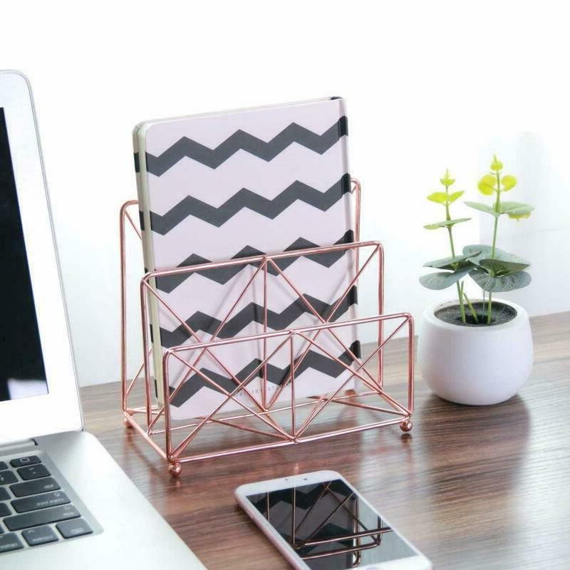 Rose Gold Office 4 1 Decorative Desk Organizer