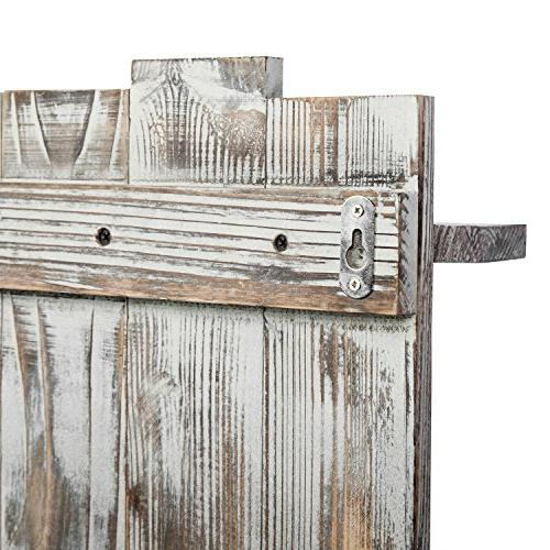 MyGift Rustic Torched Wood Pallet-Style Wall Decorative Display