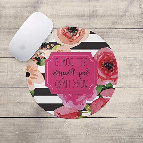 Set Work Hard Pad Quote Mousepad, Decor, Accessories