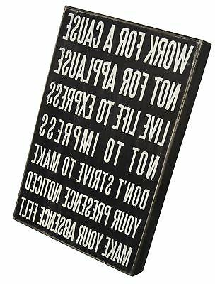 """Primitives by Kathy Classic Box Sign, 10"""" x 15"""", Live Life"""