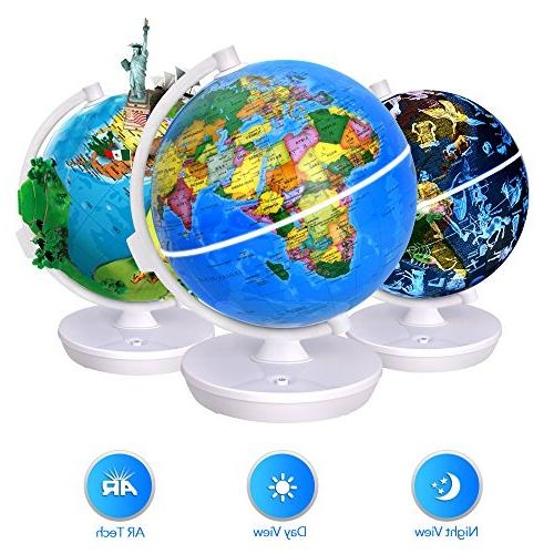 Smart World Globe - 2 In 1 Illuminated Globe with Built-in A