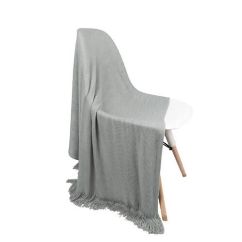 Soft Throw Soft Warm Textured Knitted Sofa Office Decor