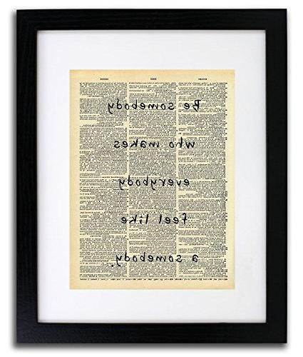 Be Quote Art Vintage Dictionary inch Home Art Art for Home Wall For Living Room Office