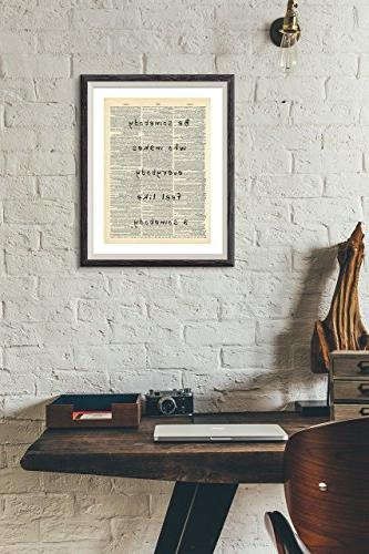 Be Art Print Dictionary Print Wall