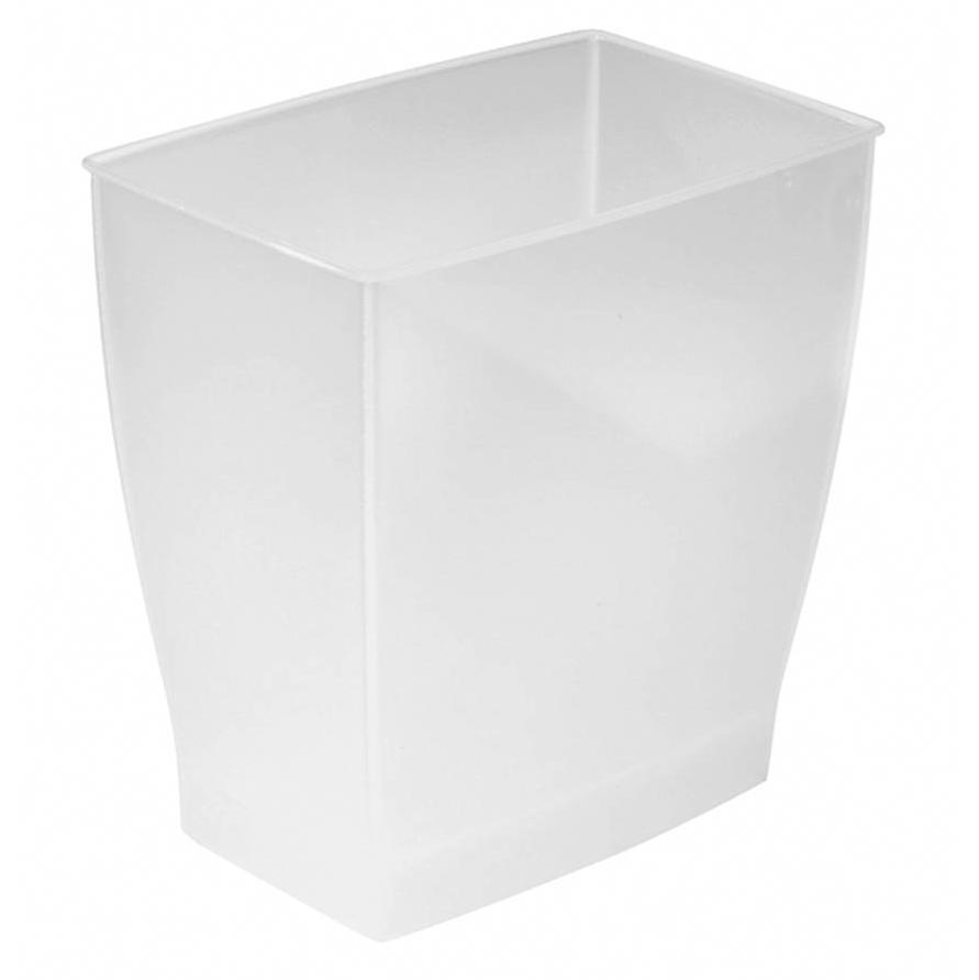 spa mono rectangle wastebasket trash can frost
