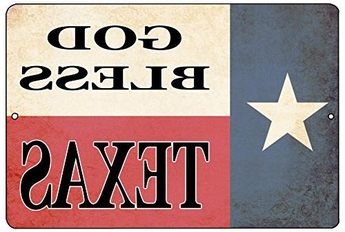 texas state flag metal tin