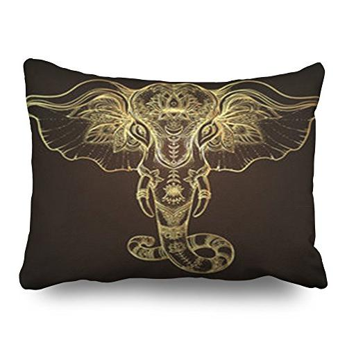 throw pillow covers handdrawn tribal