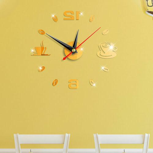 US Clock Sticker Modern Surface Office DIY