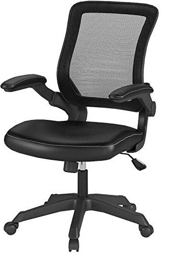 Modway Veer Office with Mesh and Black Mesh With Flip-Up Desk