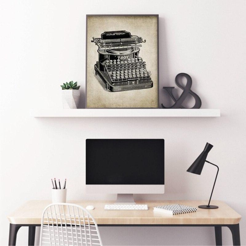 Vintage Patent Print Design Pictures Typewriting Vintage <font><b>Canvas</b></font> Painting