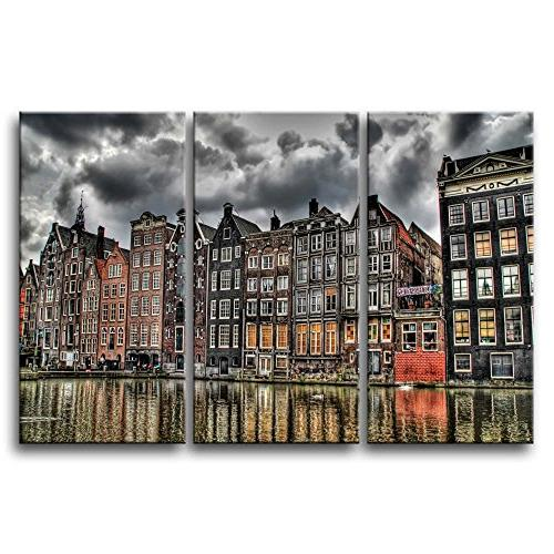wall painting amsterdam river pictures