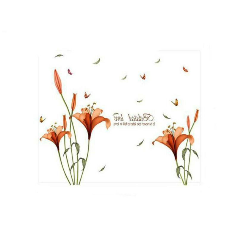 Waterproof Flower Decor Office Stickers Sticker