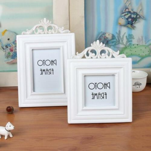White Wooden Retro Picture Display Holder Home Office