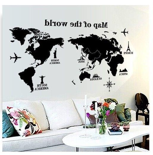 world map wall sticker art decal vinyl