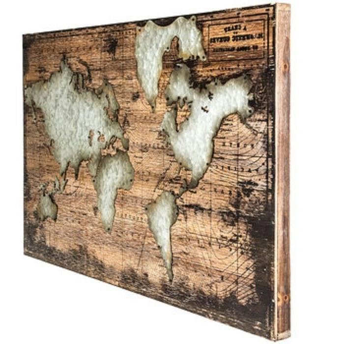 World Hanging Home Office Decor