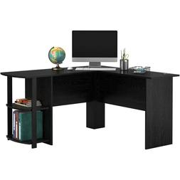 L-Shaped Desk with Side Storage, Multiple Finishes