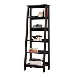 Liquid Pack Solutions Ladder Bookcase with Jamocha Wood Fini