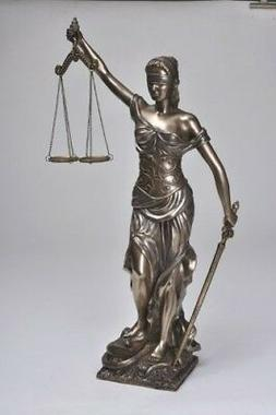 """Lady Justice Statue 18"""" Tall Law Office Home Decor Figurine"""
