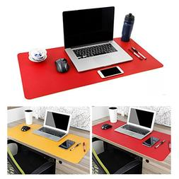 "Large Leather Desk Mouse Pad, Desk Pad Protecter 31.5"" x 15."