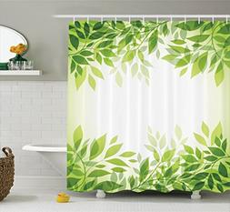 Ambesonne Leaves Decor Collection, Modern Style Print Frame