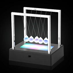 led newtons cradle balance ball home decor