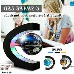 LEVITATING GLOBE MAGNETIC C SHAPE LED WORLD MAP HOME OR OFFI