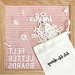 Light Pink Felt Letter Board 10x10 Inches. Changeable Letter