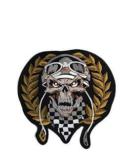 Pharaoh Cool Design Kking Golden Egyptian Racing Skull Embro