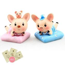 Lovely Cute Car Dashboard Ornaments Decorations piggy Couple