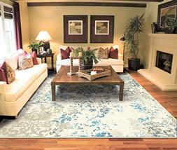 Luxury Distressed Ivory Area Rugs for Living Room 5x7 Cleara