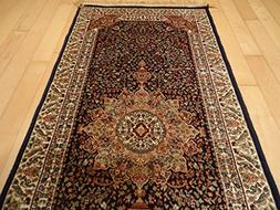 Luxury Navy Persian Area Rugs Traditional Small Rugs for Off
