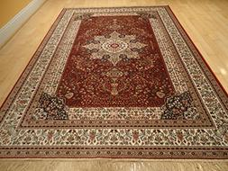 Luxury Red High Density Silk Rug Traditional Red Rugs 5x8 Re