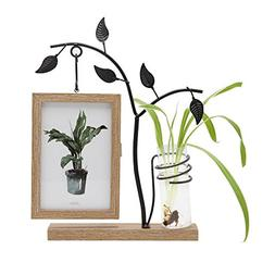 SUMGAR Metal Tree Picture Frame 4x6 Unique Wooden Double Sid